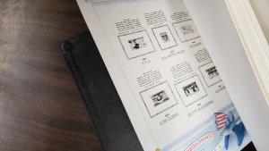 White Ace Album, U.S. plus 6 dust covers, black, U.S. Commem. pages,