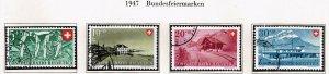 Switzerland Stamp 1947 Pro Patria Swiss Railway USED STAMPS SET $19