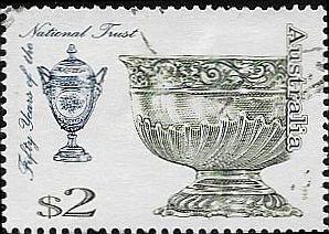 1995  Australia   China Urn - Silver Bowl   SC# 1428   /Used