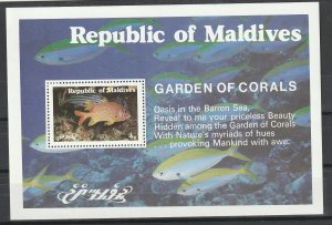 Maldives Mint S/S Garden Of Corals & Fish