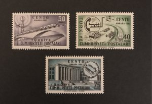 Turkey 1961 #1509-11, MNH, SCV $1