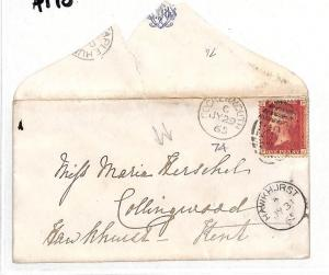 AT10 1865 GB *HERSHELL CORRESPONDENCE* COCKERMOUTH  Cover {samwells-covers}PTS