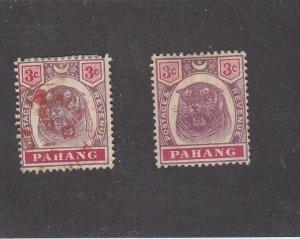 MALAYA-PAHANG (MK6577) # 14 VF-1MH/1USED 1892-95 TIGER /LILAC,CARM ROSE CV $20