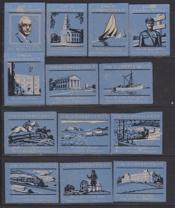 CINDERELLA STAMPS  ON CITY OF CONNECTICUT  (12)   LOT#C-165