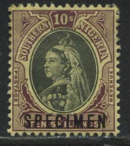 Southern Nigeria QV 10/ overprinted SPECIMEN