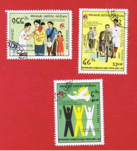 Laos #889-901  VF used  Red Cross  Free S/H