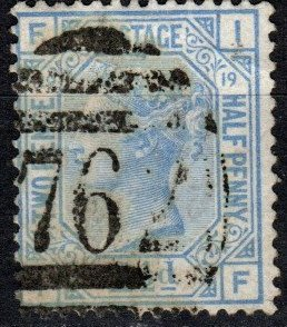 Great Britain #68 Plate 19  F-VF  Used  CV $65.00  (X5351)