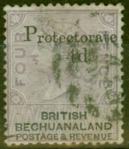 Bechuanaland 1888 4d on 4d Lilac & Black SG44 Fine Used