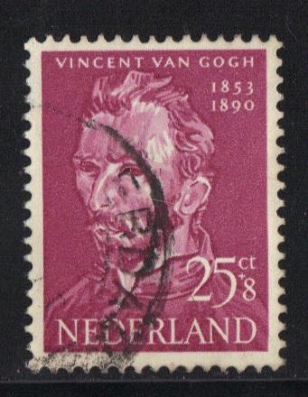 Netherlands 1954  used cultural welfare  25+8ct  van Gogh  #