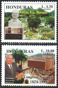 Honduras. 1999. 1499-1500. 175th anniversary of the National Congress of Hond...
