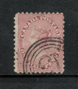 Canada #11 Very Fine Used With 4 Ring 13 Cancel - Small Thins *With Certificate*