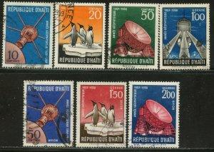 HAITI Sc#424-427,C119-121 1958 Int'l Geophysical Year US Satellite Cpl Set Used