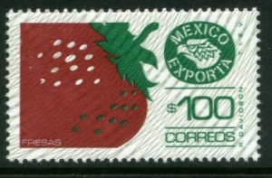 MEXICO Exporta 1134, $100P Strawberries Fluor Paper 6. MINT, NH. VF.