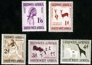South West Africa SWA 1960 -  Designs wmk 330 Mint Hinged  set # 261-265