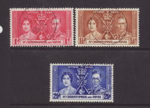 1937 Northern Rhodesia Set F/Used SG22/24