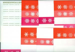 Denmark. Christmas Seal 1966. Comp. Set 9 Sheet. Scale/Proof Print. Imperforated