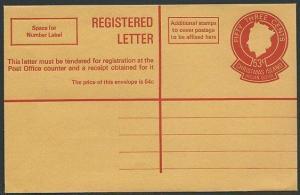 CHRISTMAS IS 1972 53c registered envelope superb unused....................46198