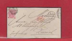 UK > SWITZERLAND #9 DUPLEX London 1873 - 49 Spray Pl 9 Cat $100