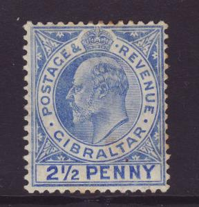 1907 Gibraltar 2½d With Large 2 In ½ Mint