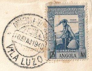 Angola (Portugal) 1940 VILA LUZO cvr to USA - 1.75a sole franking Vasco Da Gama