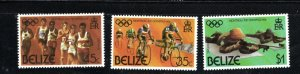 Belize SC377-379 21st.OlympicGames,Montreal'76-Running-Shooting-Bicyling MNH1976