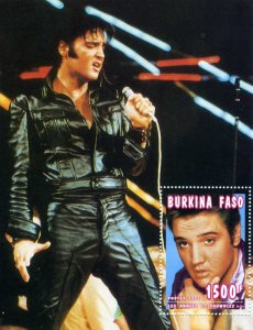 Burkina-Faso 1995 ELVIS PRESLEY s/s Perforated Mint (NH)