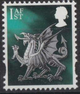 z4943) G.B. - Wales. 2018. MNH. SG w150 1st Dragon. New Typeface