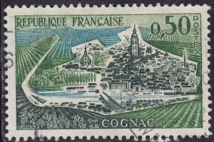 France 1010 USED 1961 View of Cognac