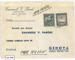 POSTAL HISTORY : CHILE - AIRMAIL COVER to ITALY 1953