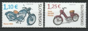 Slovakia 2014 Motorcycles 2 MNH stamps