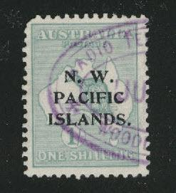 North West Pacific Islands Scott 6 perf 12 wmk 8 CV$72.50