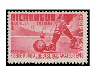 STAMP FROM NICARAGUA YEAR 1949. SCOTT # 728