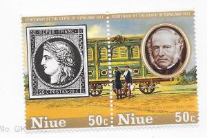 Niue #244  $0.50 Roland Hill  (MNH) CV $1.00