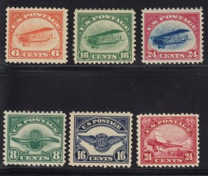 C1 - C6 Set VF+ OG mint never hinged with nice color cv $ 845 ! see pic !