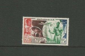 Madagascar 1949 75th Anniversary Of UPU Mounted Mint SG 321