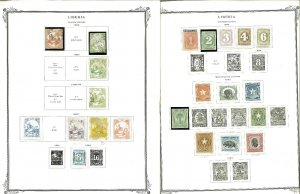 Liberia 1860-1974 M & U on Scott Specialty Pages.