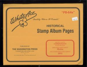 2012 White Ace U.S Simplified Commemorative Plate Block Stamp Supplements PB-64s