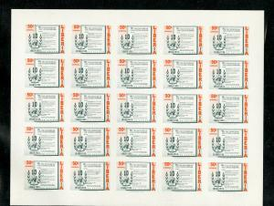 Liberia Stamps # C93-6 Stamps Intact Imperforate Full Sheets Rare