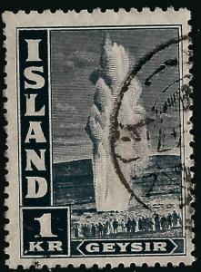 Iceland Attractive Sc #208bd Used F-VF