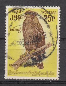 Burma SC# 183  1964 25p Bird used