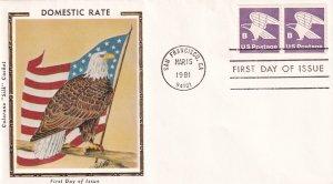 1981, B Domestic Rate, Colorano Silk, FDC (E12292)