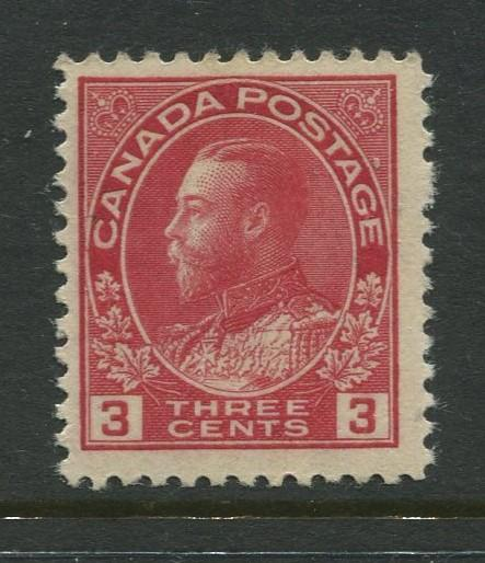 Canada - Scott 109 - Admiral Issue - 1911 - MH - Single 3c Stamp