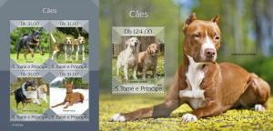 Z08 ST190305ab Sao Tome and Principe 2019 Dogs MNH ** Postfrisch