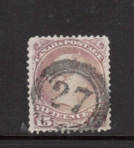Canada #29b Very Fine Used With Ideal 4 Ring 27 Cancel