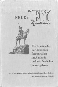 German Colonies, Dr. Ey 1964, Handbook, 3rd edition, hardbound, 235 pages, used