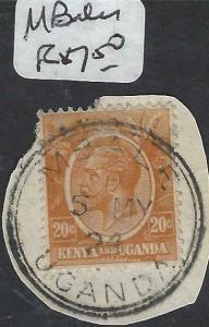KENYA, UGANDA (P3105B) KGV CANCELS. NI LASIMA TAZAMA!!  MBALE  CDS  VFU