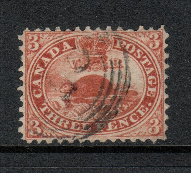 Canada #12 Extra Fine Used - One Barely Short Perf At Top