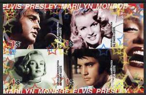 Timor 2004 Elvis Presley & Marilyn Monroe #01 imperf ...