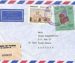 PARAGUAY Airmail Cover *Encarnacion*Institute MIVA MISSIONARY Austria 1991 CA261
