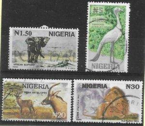 1993  Thematics -  NIGERIA  -  SG.  652 / 655  -  WILDLIFE   - USED